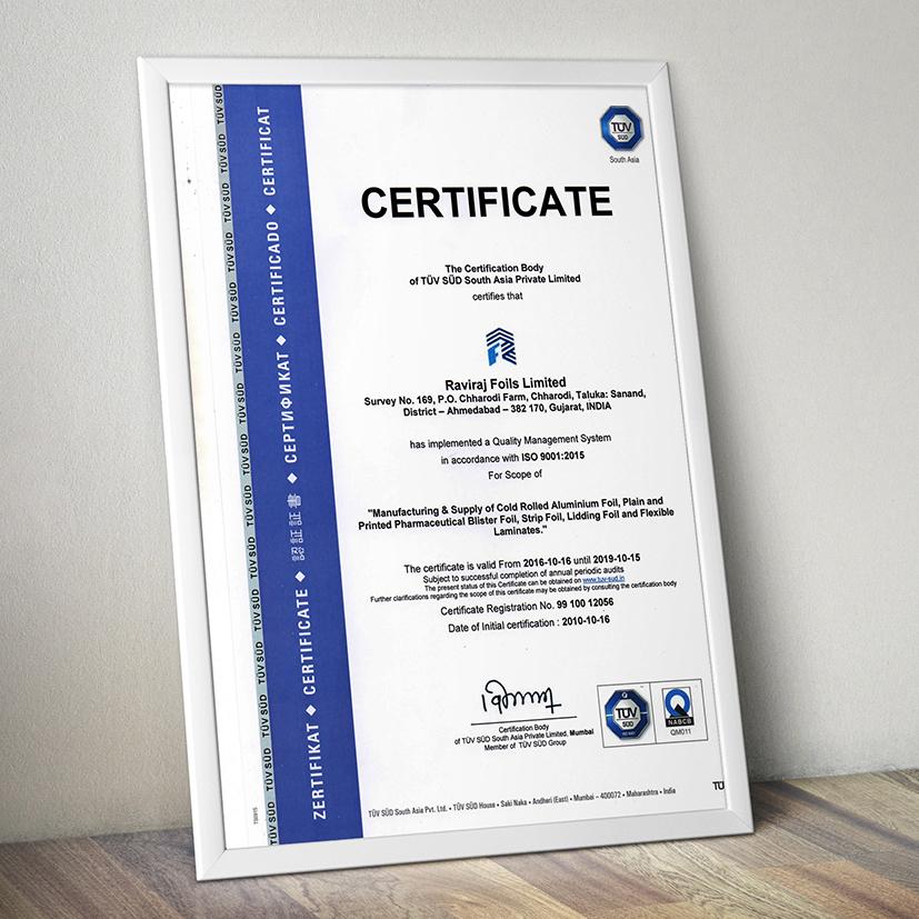 RFL Certificate
